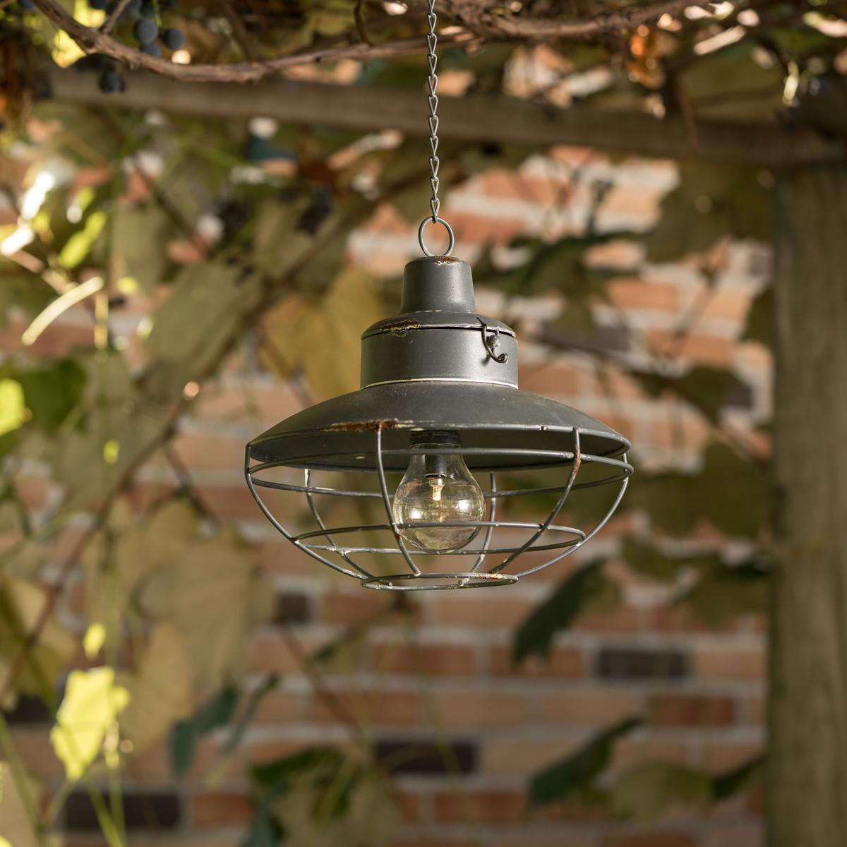 round james metal hanging led lantern
