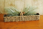 "19"" Criss Cross Cracker Basket"