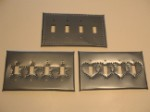 Quad Switchplate - Tin