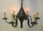 Farmhouse Tin Chandelier Pierced