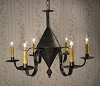 Six Arm Tin Chandelier
