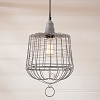 Egg Basket Cage Pendant in Weathered Zinc