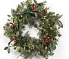Snowy Mistletoe, Pinecones & Berries Wreath