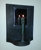 Square Mirror Sconce
