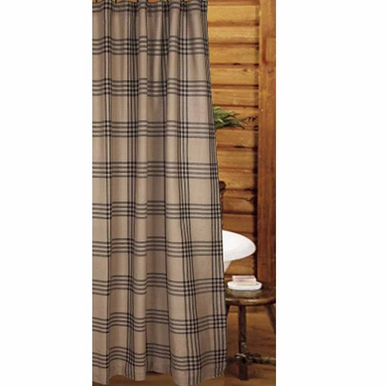 Chesterfield Check Barn Red Shower Curtain Oat Black