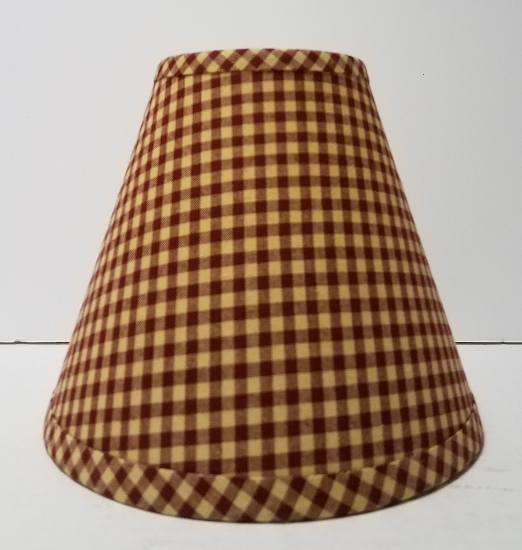 8 red small check lampshade aloadofball Images