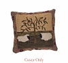 Willow And Sheep Hooked Pillow Cover