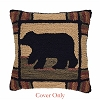 Adirondack Bear Hooked Pillow Cover