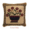 Flower Basket Hooked Pillow Cover