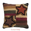 Stars Block Hooked Pillow Cover