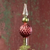 MERCURY GLASS TREE TOPPER WITH SILVER STEM