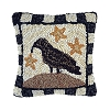 12 X 12'' Crow And Star Pillow