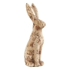 9 Inch Brown Terra Cotta Sitting Rabbit Looking Forward
