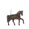 11 Inch Brown Resin Horse w/ Saddle Arrow Replacement