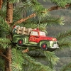MERCURY GLASS FOREST HILL TREE FARM AND NURSERY TRUCK ORNAMENT