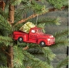 MERCURY GLASS PINE HILL TREE FARM AND NURSERY TRUCK ORNAMENT