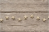 4.5 FT ANTIQUED GOLD STAR GARLAND