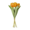 14 Inch Orange Silk with Real Touch Tulip Bouquet (7 stems)
