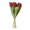 14 Inch Red Silk with Real Touch Tulip Bouquet (7 stems)