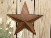 Small Rusty Star Wall Pocket -12in