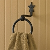 WROUGHT IRON STAR RING HOOK