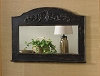 Mantle Top Mirror - Aged Black