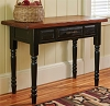 Wood Top Sofa Table with Black Base