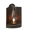 Trifold Tin Lamp with Glass Globe