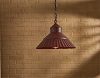 Galvanized Crimp Pendant - Red