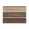 Winter Wonderland Stenciled Blocks