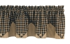 Sturbridge Lined Point Valance - Black