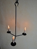 THREE ARM HANGING CANDLE HOLDER