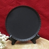 Large Round Plate Black