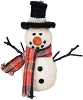 Snowman With Black Top Hat