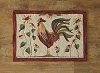 Rooster Hooked Rug