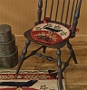 Folk Crow Hooked Chair Pad