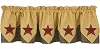 Country Star Lined Point Valance
