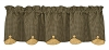 Country Star Lined Scallop Valance