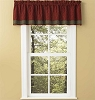 Hearth & Home Lined Border Valance - Wine