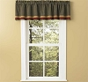 Hearth & Home Lined Border Valance - Black