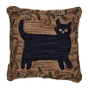 Cat Hooked Pillow Cover