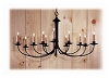 Bunker Hill Wrought Iron Chandelier