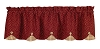 Apple Jack Lined Scallop Valance
