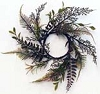 Mixed Shade Ferns Candle Ring