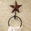 Burgundy Barn Star Towel Ring