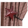 Burgundy Barn Star Curtain Tiebacks Set/2 (4