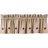 Heritage Star Lined Valance (72x14