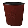 Small Burgundy Barn Star Waste Basket (10x10.5