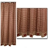 Burgundy Homespun Star Shower Curtain (72x72