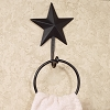 Black Barn Star Towel Ring